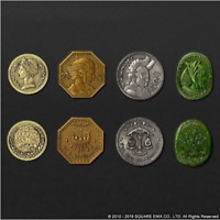 FF Final Fantasy XIV Gil coin collection 4 set figure Anime from JAPAN