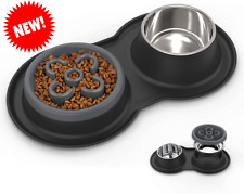 4 in 1 stainless steel food and water bowl 27oz