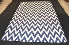 Hand Woven 100% Cotton Zig Zag Rug Mat Size By 6x9 Feet For Rug