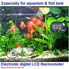 Aquarium Electronic Digital LCD Display Thermometer Fish Tank Temperature Sensor