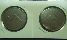 1950 Australian Penny, rotated die