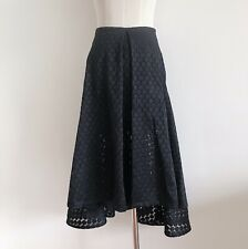 black nicholas designer midi knee skirt polka dot high waist 8 formal party 50s