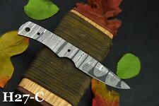 Custom Damascus Steel Blank Blade Skinning Hunting Knife Handmade (H27-C)