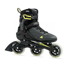 Rollerblade 100 3WD Men's Adult Inline Skate Size 12, Black & Yellow (Used)