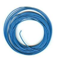 Peco PL-38B Electrical Wire, Blue, 3 amp, 16 strand