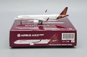 JC Wings 1:400 Vistara Airbus A321-200 NEO VT-TVB Diecast Model Aircraft