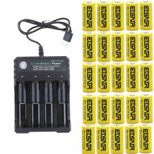 2800mAh 16340 CR123A LR123A 3.7V Rechargeable Li-Ion Battery+USB 4Slot charger
