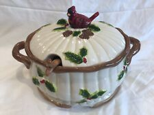 CARDINAL SOUP TUREEN IN EXCELLENT CONDITION