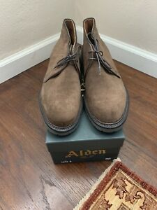 NEW!! Alden 1273S Sz 8.5D Brown Suede Chukka Boot Retail $529 USA FINAL PRICE
