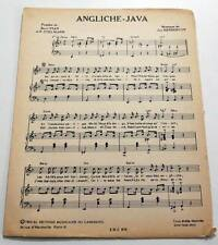 Partition vintage sheet music BORIS VIAN : Angliche Java * 50's