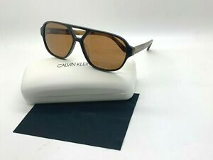 NEW Calvin Klein Sunglasses CK18504S 201 BROWN 59-13-140MM CASE