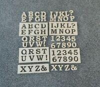 Beton Gießform Styrodur 10x3 cm 39 Buchstaben Symbolen ABC Alphabet Nummern Zahl