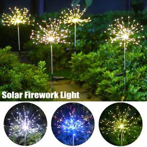 150LED Solar Firework Fairy Light Waterproof Outdoor Path String Garden Lamp