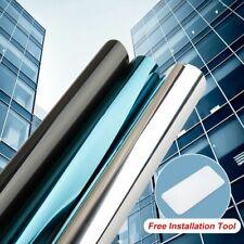 One Way Mirror Window Film Tint Heat Control Solar UV Reflective Static Cling