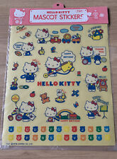 More details for ultra rare vintage 1976  sanrio hello kitty large sheet of stickers *sealed*