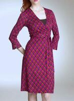 DIANE von FURSTENBERG NWT Julian Sillk Wrap Dress 3/4 Sleeve Size US 6 AU 8 -10