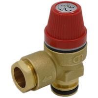 """Altecnic Caleffi 3 Bar Pressure Relief Valve 1/2"""" Push Fit O-Ring 312404CST"""