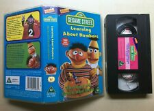 SESAME STREET - LEARNING ABOUT NUMBERS - DISNEY - VHS VIDEO