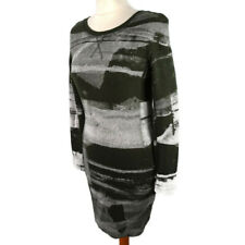 Religion Size XS 8 Green Grey V Neck Long Sleeve Abstract Dress Winter