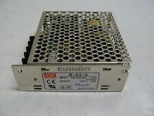 MEAN WELL S-25-5 POWER SUPPLY INPUT 100-240 VAC 0.6 A OUTPUT +5 V 5.0 AMP