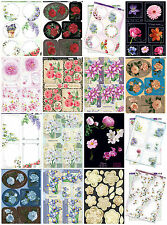 Floral themed card kit - Kanban die cut paper craft toppers, cardmaking, flowers