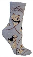 Norwich Terrier Dog Socks 9-12 made in the Usa