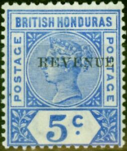 British Honduras 1899 5c Ultramarine SG66 Fine & Fresh Mtd Mint
