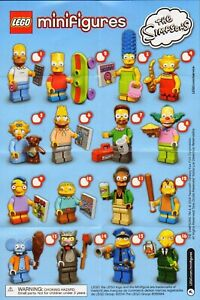 Lego 71005 CMF Simpsons Complete Set - Series 1 - New (Removed from Packs)