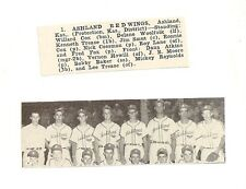 Ashland Redwings Kansas 1953 Baseball Team Picture