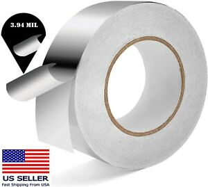 Industrial Grade Aluminum Foil Tape 3.94 Mil 2 Inch x 165 Ft Insulation Home