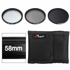 ND2 ND4 ND8 58mm Neutral Density Filter Set for Canon EOS 6D 700D 650D 600D LF62
