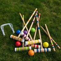 Backyard Colorful Complete Croquet Set with Travel Storage Bag Lawn Game