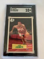 2007-08 Topps Lebron James 1957-58 Variation SGC 10 Comp PSA Cavs Lakers POP 6