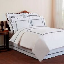 Wickham 100% Cotton Comfort Duvet Cover Rope Embroidered with White Ground