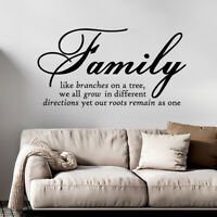 Wall Decal Sticker Quote Vinyl Art Lettering Family Like Branches On A Tree