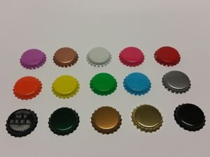 BOTTLE BEER CROWN CAPS 26mm  VERY GOOD SEAL QUALITY Home Brew FREE P&P UK