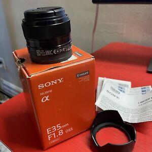 Sony SEL 35mm F/1.8 OSS E Mount Lens W / Box