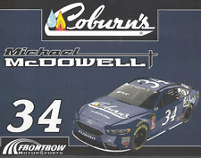 "2018 MICHAEL MCDOWELL ""COBURN'S"" #34 NASCAR MONSTER ENERGY POSTCARD"
