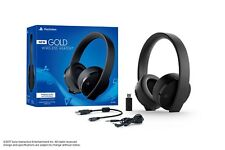 Gold Wireless Headset PlayStation 4 Sony 7.1 Virtual Surround Sound Hidden Mic