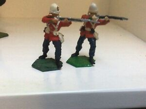 2 British 24th Foot firing. Anglo Zulu War New Hope Design. 54 mm metal soldiers