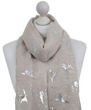 Cream Fairy scarf Tinkerbell Fairies Magic Wand Silver Metallic Star Mother Poison