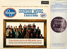 COUNTRY MUSIC FESTIVAL special 38th birthday edition of grand ole opry LP EX/EX
