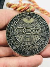 Vintage Odd Fellows IOOF flt Double Sided Medallion coin medal NOS