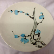 "RED WING POTTERY DRIFTWOOD SALAD PLATE 7 7/8"" BLUE FLOWERS TEXTURED"