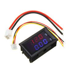 3pcs Mini Digital Voltmeter Ammeter 100V 10A Panel Amp Volt Current Meter Tester