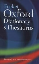 POCKET OXFORD DICTIONARY AND THESAURUS NEW HARDCOVER BOOK