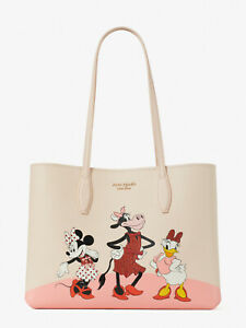 Kate Spade X Disney clarabelle & friends minnie Large tote w/ Pouch ~NWT~
