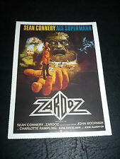 ZARDOZ, film card [Sean Connery, Charlotte Rampling] - a John Boorman film