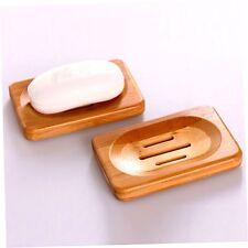 Natural Bamboo Wood Soap Dish Storage Holder Bath Shower Plate Bathroom rlqw