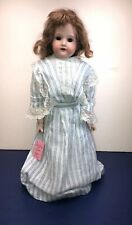 """18"""" Antique Armand Marseille Germany 370 A & M Bisque Leather Body Sleep Eyes #S"""